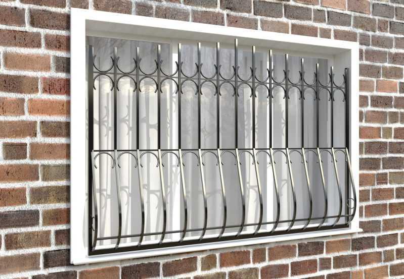 Фото 3 - Дутая решетка на окна ДТ0006.