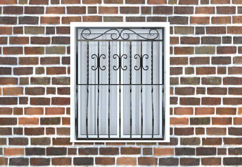 Фото 1 - Дутая решетка на окна ДТ0007.