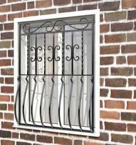 Фото 27 - Дутая решетка на окна ДТ0007.