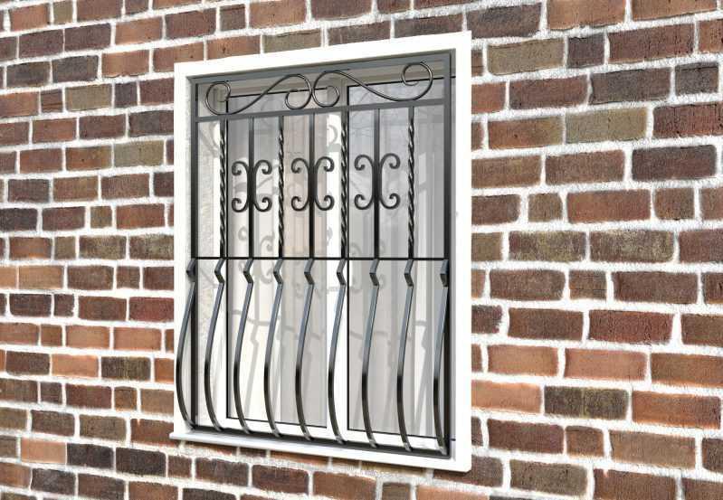 Фото 2 - Дутая решетка на окна ДТ0007.