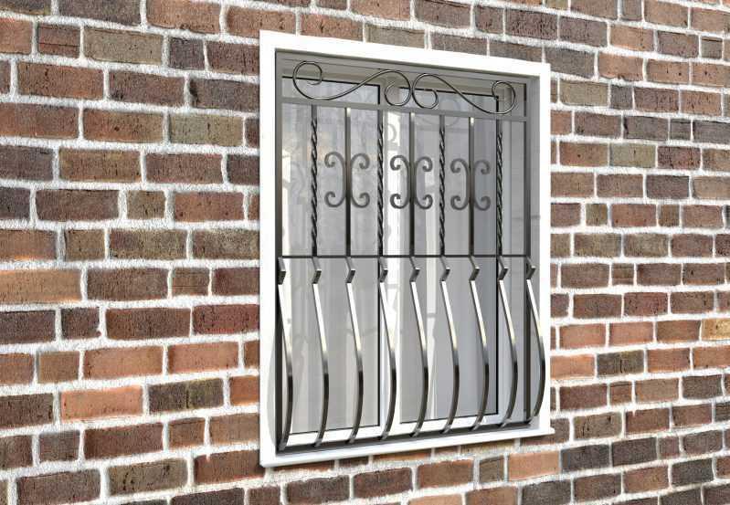 Фото 3 - Дутая решетка на окна ДТ0007.