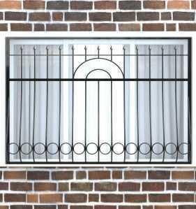 Фото 12 - Дутая решетка на окна ДТ0008.