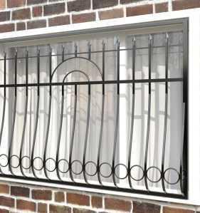 Фото 14 - Дутая решетка на окна ДТ0008.