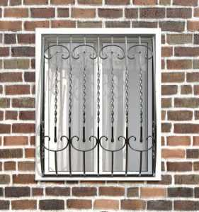 Фото 10 - Кованая решетка на окно КР-0011.