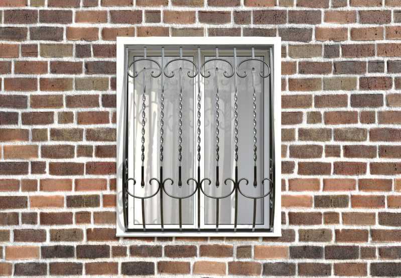 Фото 1 - Кованая решетка на окно КР-0011.