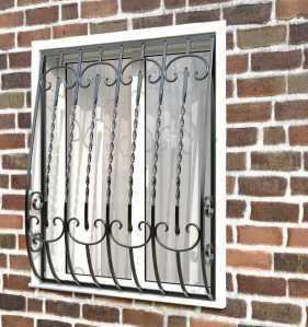 Фото 11 - Кованая решетка на окно КР-0011.