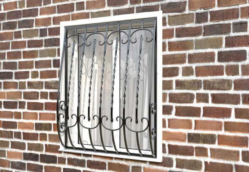 Фото 2 - Кованая решетка на окно КР-0011.
