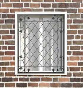 Фото 8 - Кованая решетка на окно КР-0038.