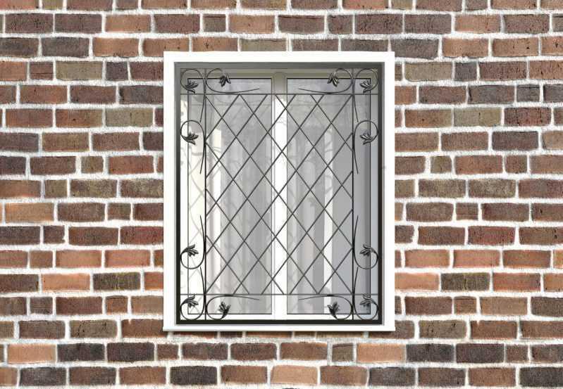Фото 1 - Кованая решетка на окно КР-0038.