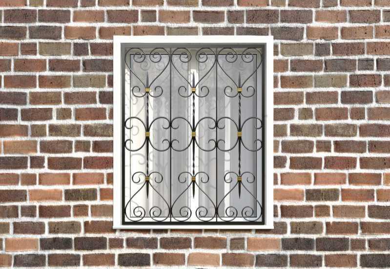 Фото 1 - Кованая решетка на окно КР-0034.