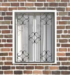 Фото 10 - Кованая решетка на окно КР-0028.