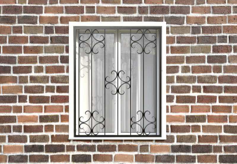 Фото 1 - Кованая решетка на окно КР-0028.