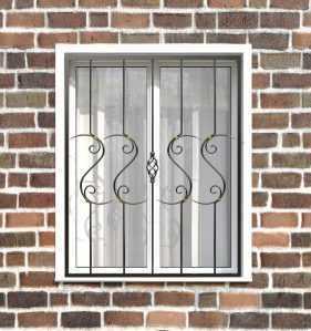 Фото 10 - Кованая решетка на окно КР-0032.