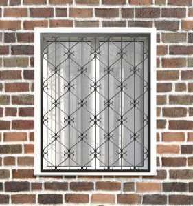 Фото 14 - Кованая решетка на окно КР-0024.