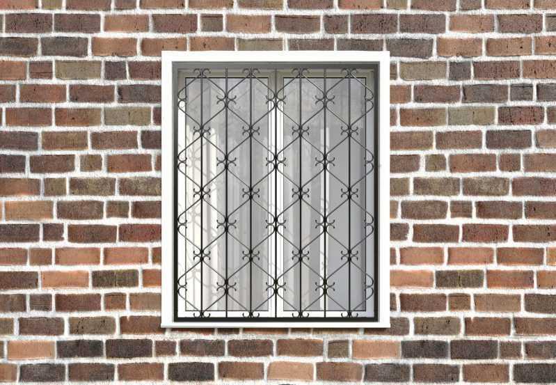 Фото 1 - Кованая решетка на окно КР-0024.