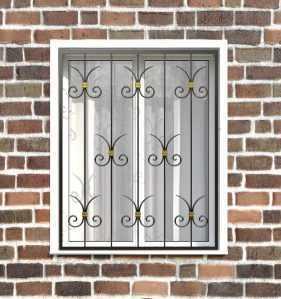 Фото 14 - Кованая решетка на окно КР-0022.