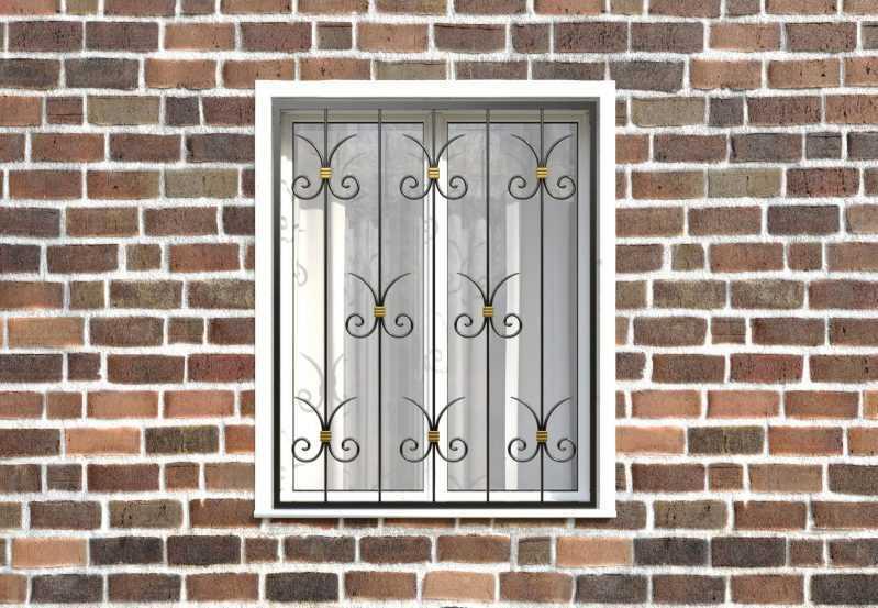 Фото 1 - Кованая решетка на окно КР-0022.