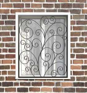 Фото 2 - Кованая решетка на окно КР-0018.