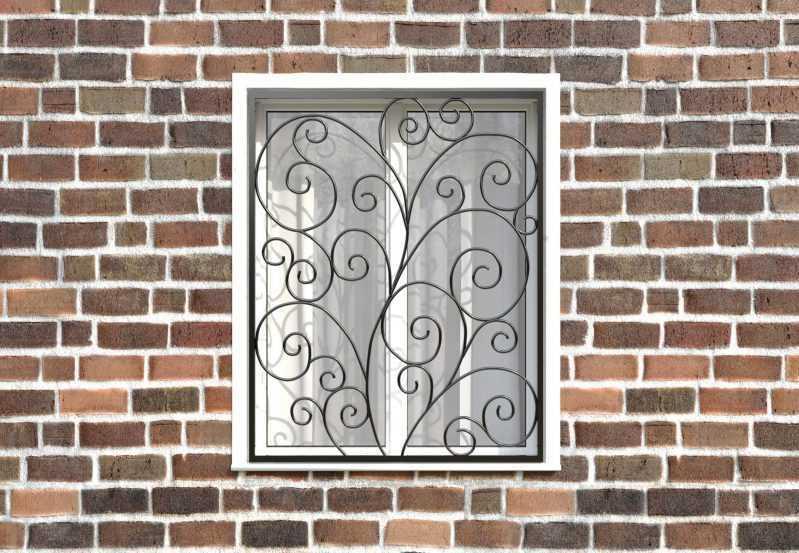 Фото 1 - Кованая решетка на окно КР-0018.