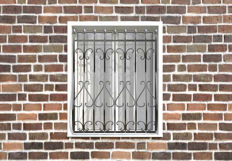 Фото 1 - Кованая решетка на окно КР-001.