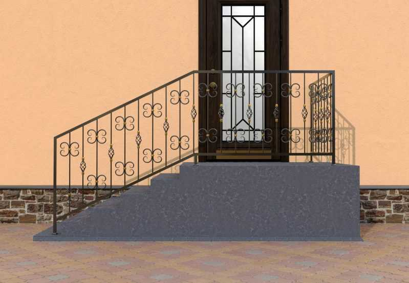 Фото 1 - Перила для лестниц П-004.