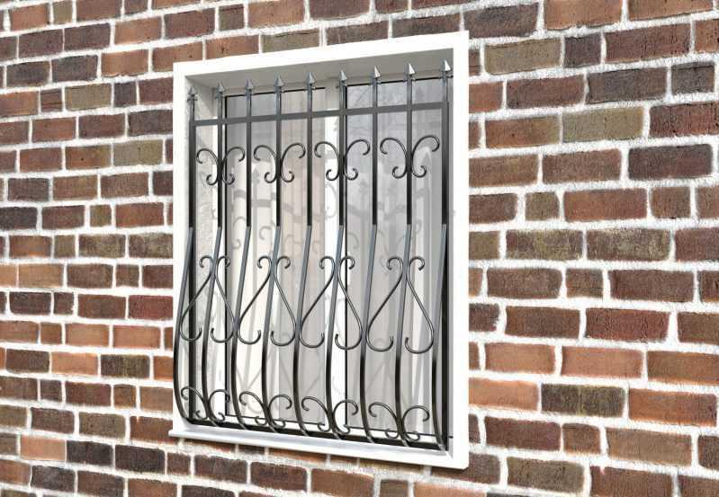 Фото 2 - Кованая решетка на окно КР-001.