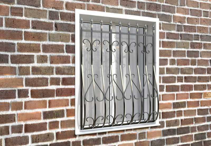 Фото 3 - Кованая решетка на окно КР-001.