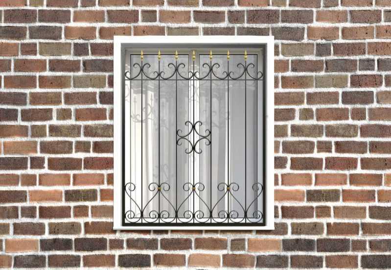 Фото 1 - Кованая решетка на окно КР-0033.