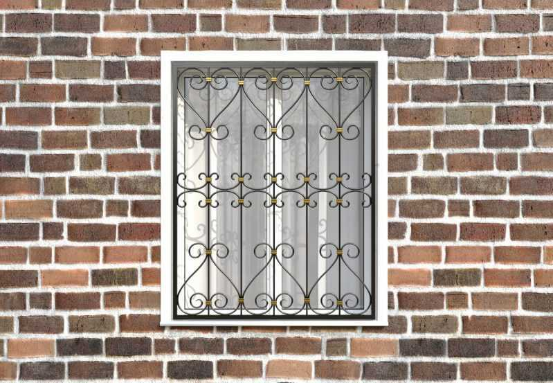 Фото 1 - Кованая решетка на окно КР-0025.