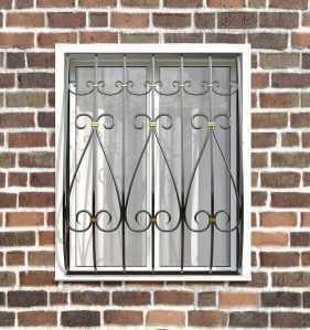 Фото 22 - Кованая решетка на окно КР-0020.
