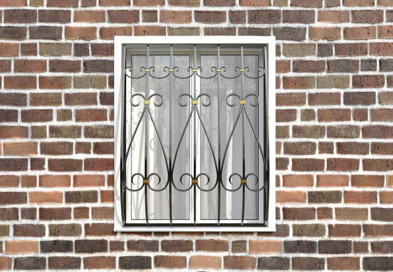 Фото 1 - Кованая решетка на окно КР-0020.