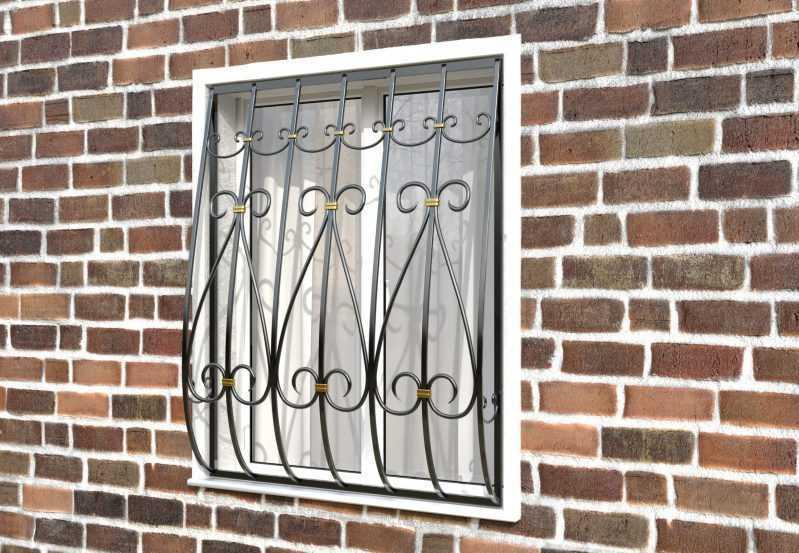 Фото 2 - Кованая решетка на окно КР-0020.