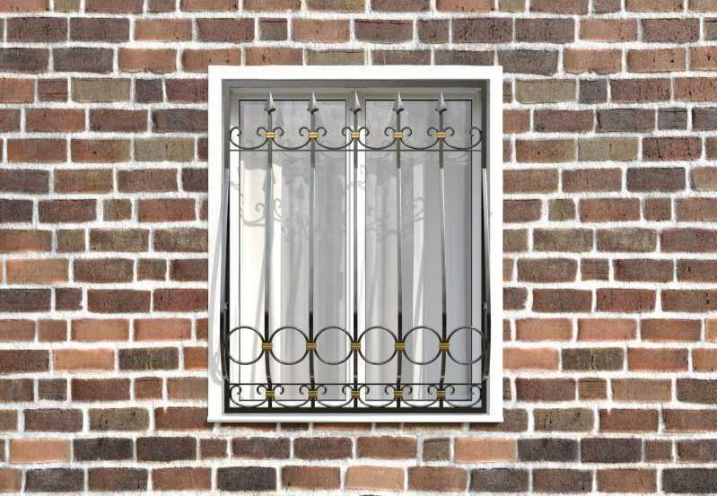 Фото 1 - Кованая решетка на окно КР-0021.