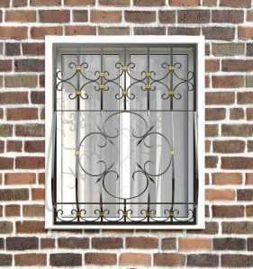 Фото 16 - Кованая решетка на окно КР-0023.