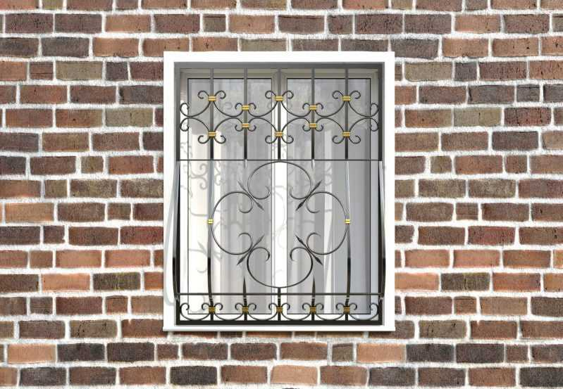 Фото 1 - Кованая решетка на окно КР-0023.