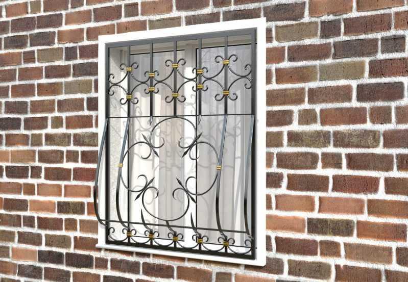 Фото 2 - Кованая решетка на окно КР-0023.
