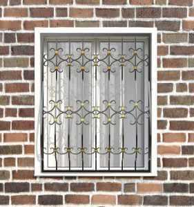 Фото 12 - Кованая решетка на окно КР-0027.