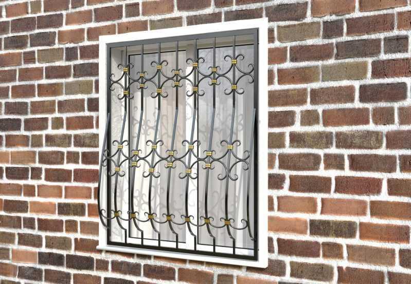 Фото 2 - Кованая решетка на окно КР-0027.