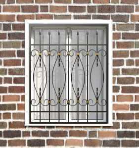 Фото 20 - Кованая решетка на окно КР-0016.