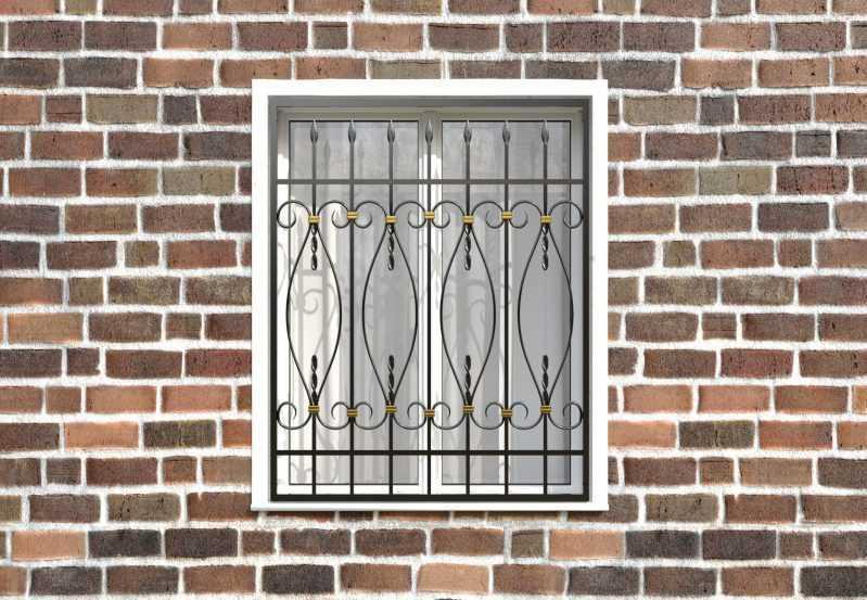 Фото 1 - Кованая решетка на окно КР-0016.