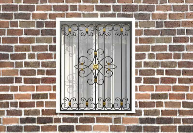 Фото 1 - Кованая решетка на окно КР-0039.