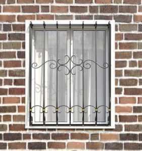 Фото 65 - Кованая решетка на окно КР-0017.