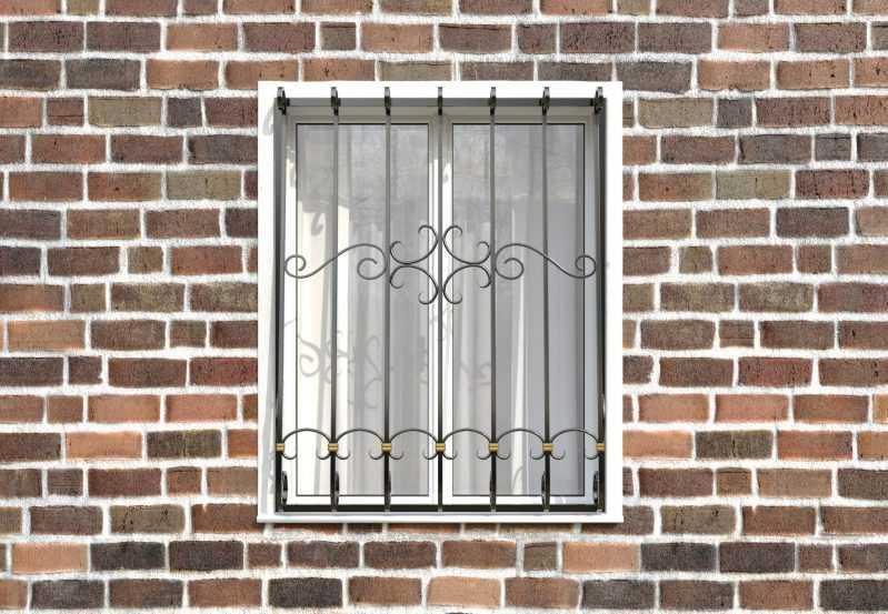 Фото 1 - Кованая решетка на окно КР-0017.