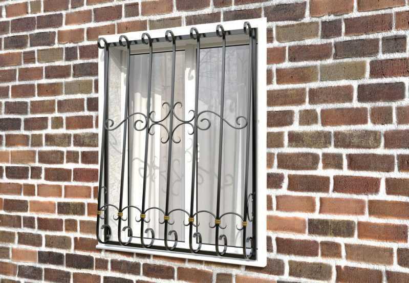 Фото 2 - Кованая решетка на окно КР-0017.