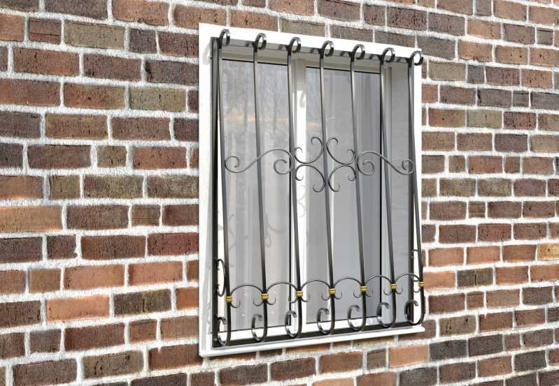 Фото 3 - Кованая решетка на окно КР-0017.
