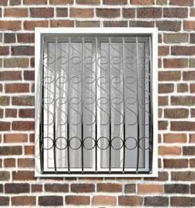 Фото 9 - Кованая решетка на окно КР - 0014.