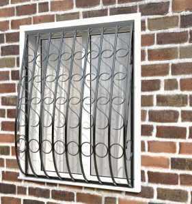 Фото 10 - Кованая решетка на окно КР - 0014.