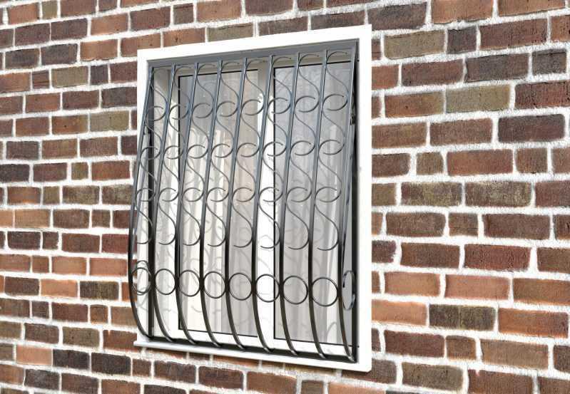 Фото 2 - Кованая решетка на окно КР - 0014.