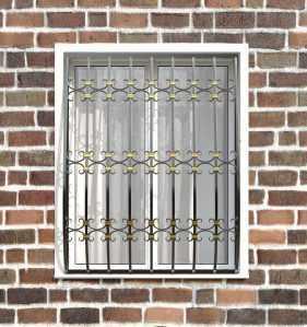 Фото 29 - Кованая решетка на окно КР-0030.