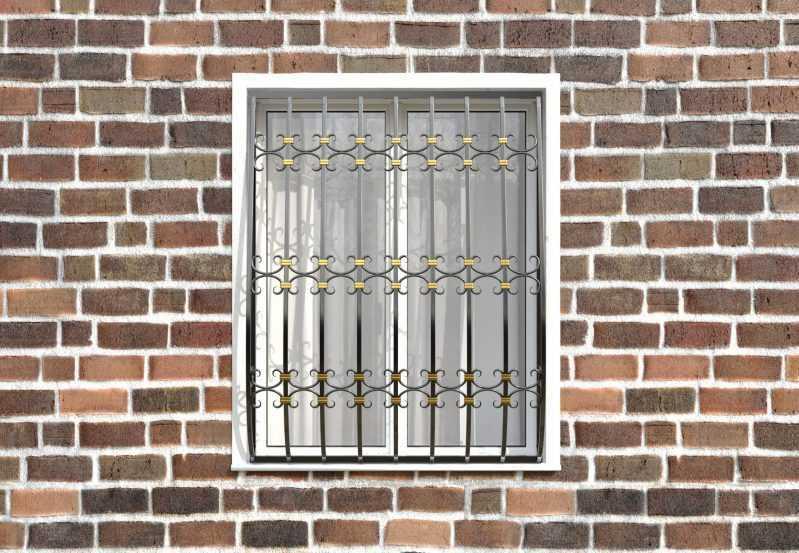 Фото 1 - Кованая решетка на окно КР-0030.